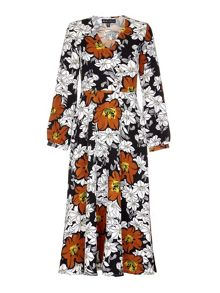 Mela London Multi Floral Printed Maxi Dress