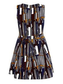 Mela London Graphic Printed Skater Dress