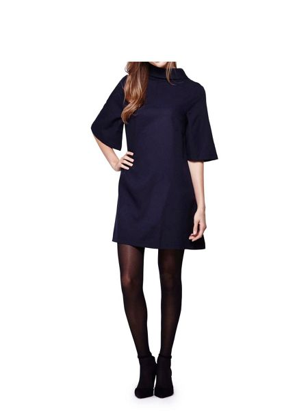 Mela London Navy Shift Dress With Zip Back