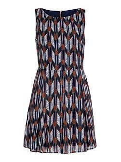 Multi Arrow Printed Sleeveless Dress