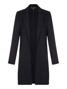 Mela London Black Long Blazer With Collar