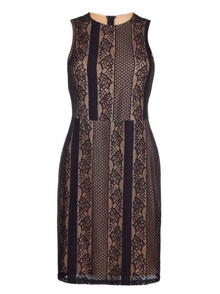 Mela London Black Sleeveless Dress With Contrast Lace