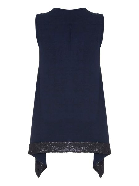 Mela London Black Sleeveless Top With Sequins