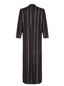 Mela London Black Gold Stripe Detail Long Cardigan