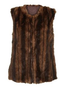Mela Loves London Dark Brown Fluffy Gilet