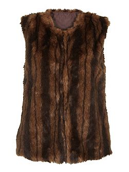 Dark Brown Fluffy Gilet