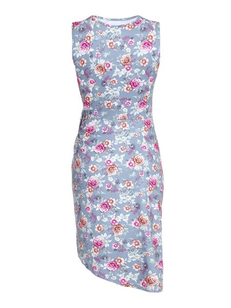 Yumi Floral Print Sleeveless Dress
