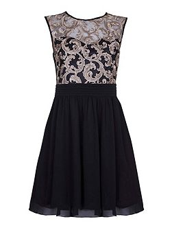 Lace Detail Occasion Dress