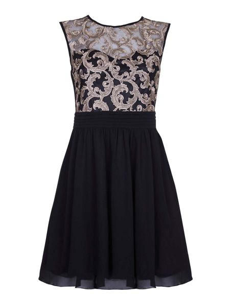 Yumi Lace Detail Occasion Dress
