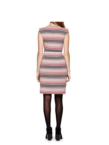 Yumi Belted Dress With Aztec Print