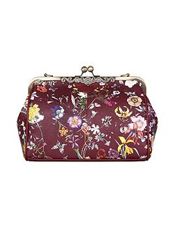 Faux Leather Floral Shoulder Bag
