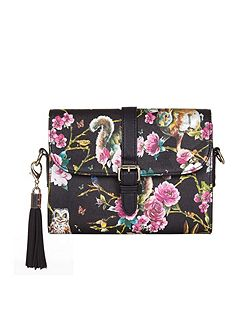 Woodland Print Shoulder Bag