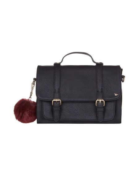 Yumi Satchel Bag With Pom Pom