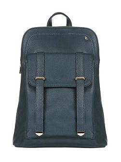Faux Leather Casual Backpack