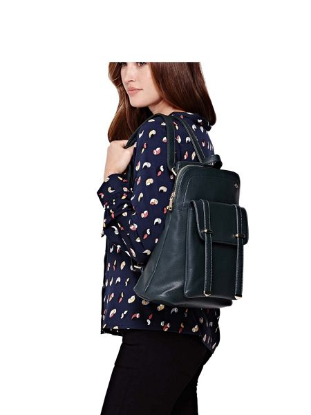 Yumi Faux Leather Casual Backpack