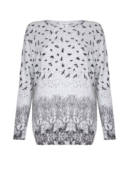 Yumi Jungle & Bird Printed Jumper