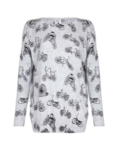 Yumi Bicycle Printed Jumper