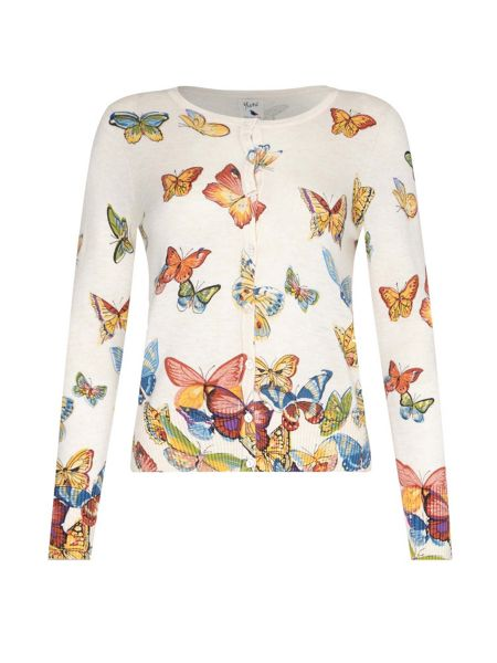 Yumi Butterfly Printed Cardigan