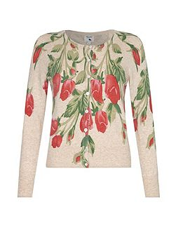 Flower Printed Cardigan