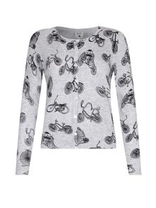 Yumi Bicycle Printed Cardigan
