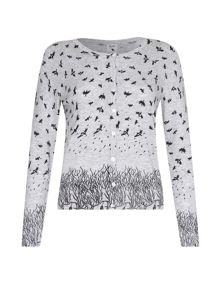 Yumi Jungle & Bird Printed Cardigan