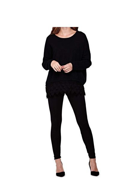 Yumi Black Ankle Length Leggings