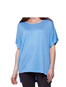 Yumi Sky Blue Basic Round Neck T-Shirt