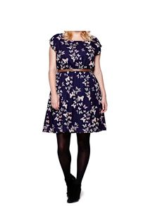 Yumi Yumi Curves Butterfly Print Belt Dress