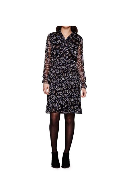 Yumi Floral Print Long Sleeve Dress
