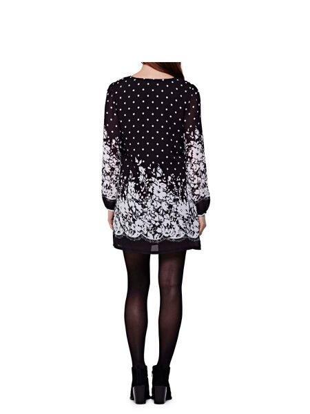 Yumi Floral Spot Print Tunic Dress