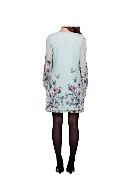 Yumi Floral Print Georgette Tunic Dress