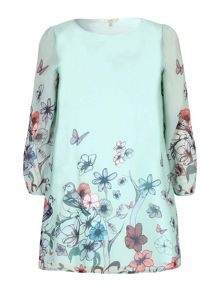 Yumi Curves Yumi Curves Butterfly Print Tunic Dress