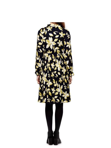 Yumi Floral Neck Tie Dress