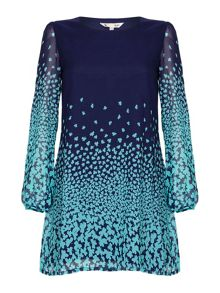 Yumi Clover Print Tunic Dress