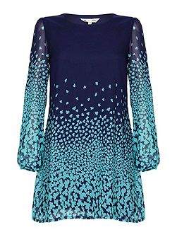 Clover Print Tunic Dress