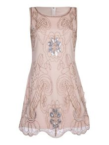 Mela London Embellished Sleeveless Party Dress