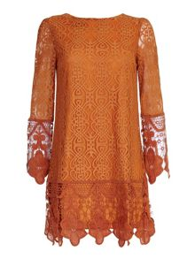 Mela London Art Deco Lace Tunic Dress