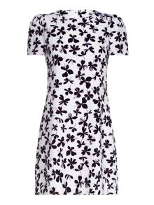 Mela London White Clover Printed Shift Dress