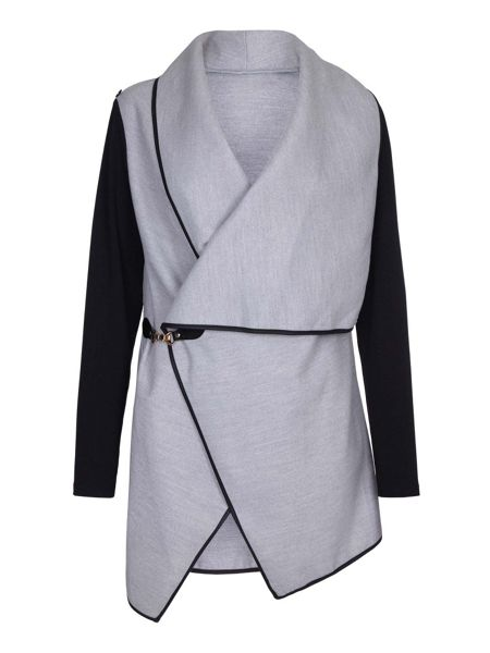 Mela London Grey Waterfall Jacket With Buckle