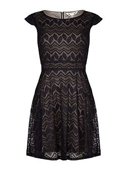 Black Occasion Dress With Lace