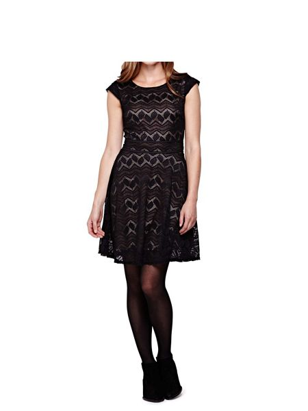 Yumi Black Occasion Dress With Lace