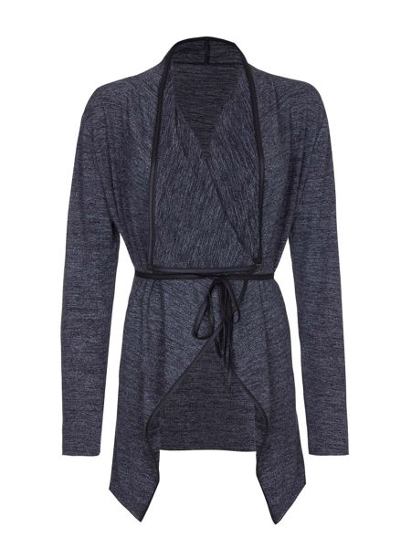Mela London Grey Kimono With Contrast Trim