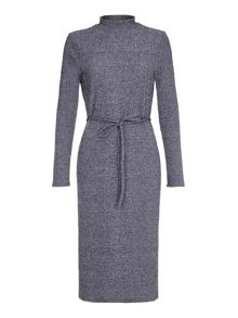 Mela London Grey Midi Tube Knit Dress