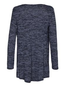 Mela London Wrap Front Drop Hem Jumper