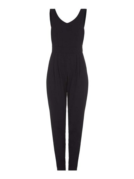 Mela London Black Structured Pocket Jumpsuit