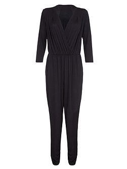 Black Jumpsuit With Wrap Front
