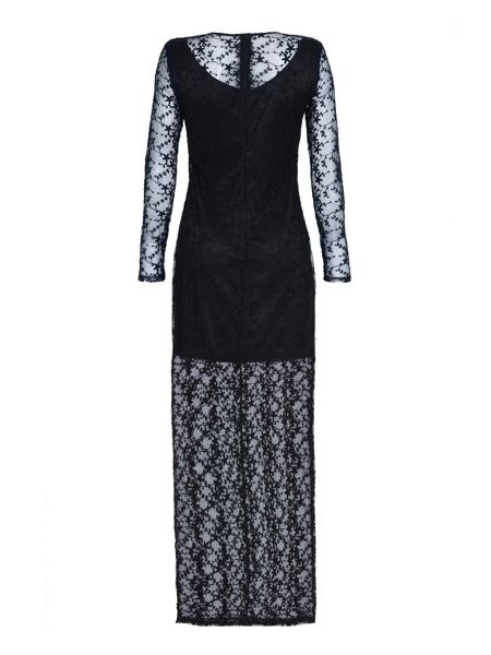Mela London Black Long Sleeve Lace Dress