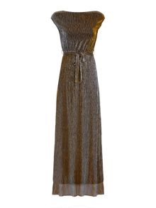 Mela London Metallic Maxi Dress
