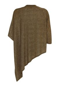 Mela London Metallic Bronze Asymmetric Batwing Jumper