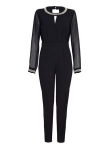 Mela London Embellished Long Sleeved Jumpsuit